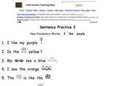 Sentence Practice 3 Worksheet