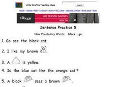 Sentence Practice 5 Worksheet