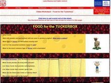 Food For the Tuckerbox Worksheet