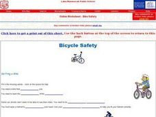 Bicycle Safety- Online Research Activity Worksheet