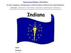 Indiana State Report Worksheet Worksheet