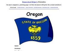 Oregon Worksheet Worksheet