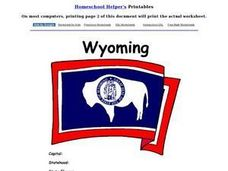 Wyoming Worksheet Worksheet
