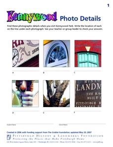 Kennywood Photo Details Worksheet