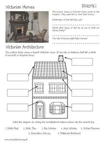 Victorian Homes and Architecture Worksheet