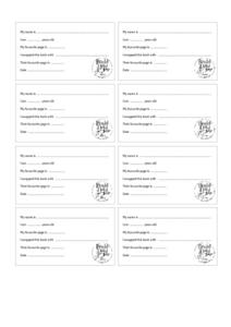 Roald Dahl Day Book Swap Sheets Printables & Template
