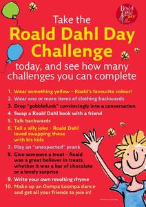 Roald Dahl Day Challenge Printables & Template
