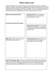 Ready, Steady, Cook! Worksheet