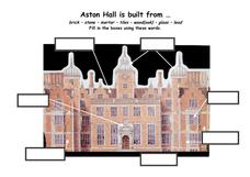 Aston Hall is Built From... Worksheet