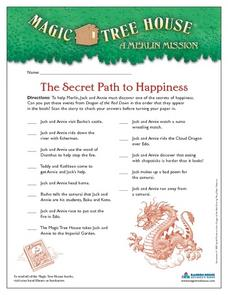 The Secret Path to Happiness Worksheet