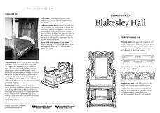 Furniture at Blakesley Hall Worksheet