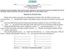 Martin's St. Patrick's Day Worksheet