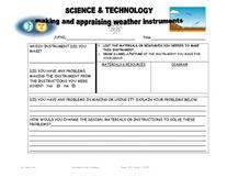 Science & Technology: Making and Appraising Weather Instruments Lesson Plan
