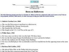 Born on Halloween Worksheet