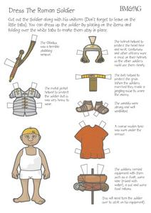 Dress the Roman Soldier Worksheet