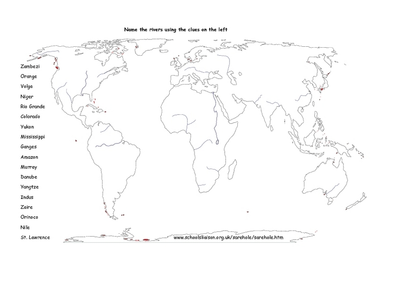 Rivers of the World Graphic Organizer for 5th - 6th Grade ...