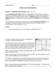 Combining Transformations Lesson Plan