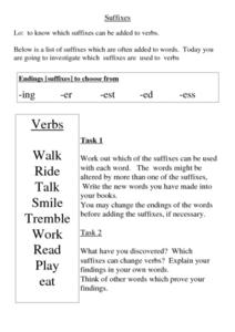 Suffixes 2 Worksheet