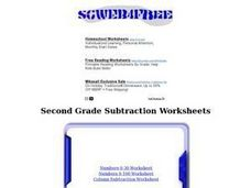 Column Subtraction Worksheet