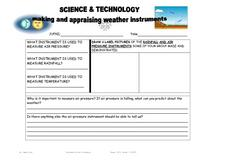 Making and Appraising Weather Instruments Lesson Plan