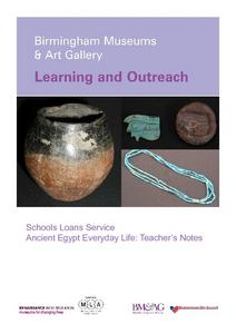 Ancient Egypt Artifacts: Birmingham Museums and Art Gallery Learning and Outreach Worksheet
