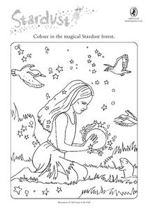 Coloring the Magical Stardust Forest Worksheet Worksheet