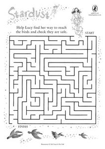 Stardust Maze- Help Lucy Reach the Birds Worksheet