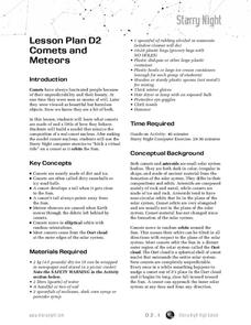 Comets and Meteors Lesson Plan