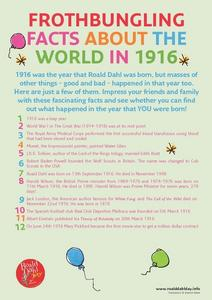 Frothbungling Facts About the World in 1916 Worksheet