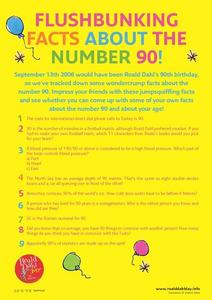 Flushbunking Facts About the Number 90! Worksheet
