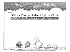 Magic Tree House: Who Turned the Lights On? Worksheet