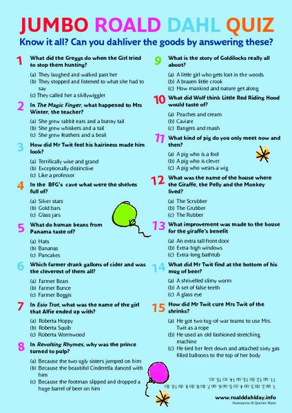 Roald Dahl Lesson Plans Worksheets Lesson Planet