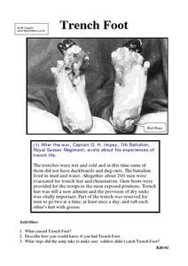 Trench Life: Trench Foot Worksheet
