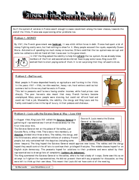 all worksheets acirc french revolution worksheets printable all worksheets french revolution worksheets causes of the french revolution 2 8th