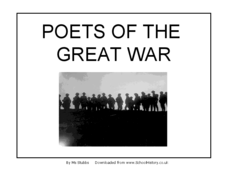 Poets of the Great War: 2 Presentation