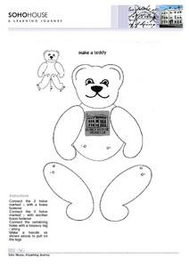 Make a Teddy --Soho House Museum Worksheet