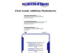 Addition With Numbers 0-6 Worksheet