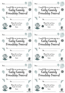 Cathy Cassidy Friendship Festival Invitations Worksheet