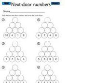 Next Door Numbers-Addition Worksheet