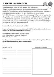Sweet Inspiration Worksheet