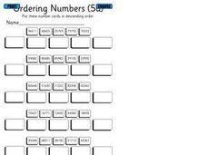 Ordering Numbers (5a) Worksheet