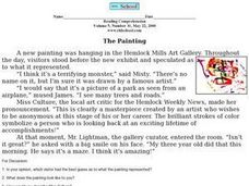 Reading Comprehension- The Painting Worksheet