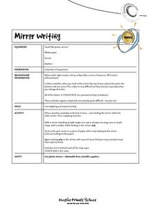 Mirror Writing Activities Worksheet