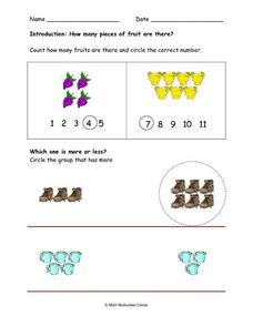 Fruit Pieces Worksheet