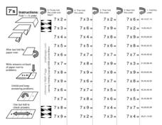 Learning Unfolding: Johnnie's Math page Worksheet
