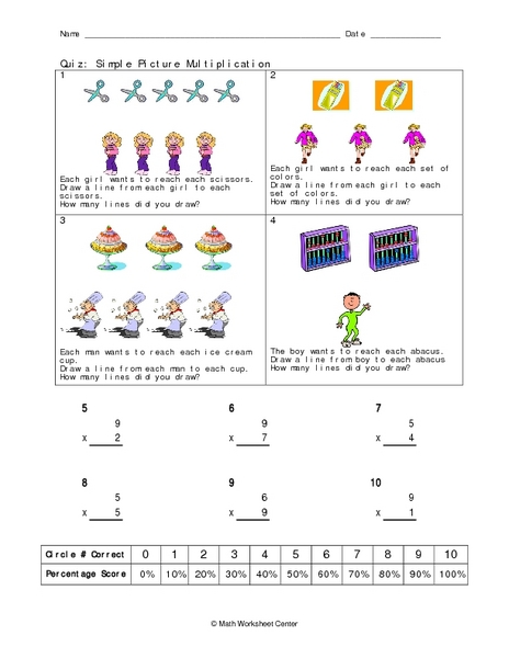 Quiz: Simple Picture Multiplication Worksheet