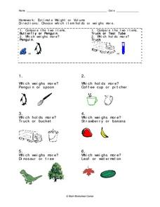 Common core worksheets estimating volume