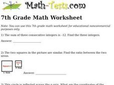 7th Grade Math Worksheet Worksheet
