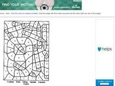 Number 9 Coloring Page Worksheet