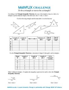 To Be a Triangle Or Not To Be a Triangle? Worksheet